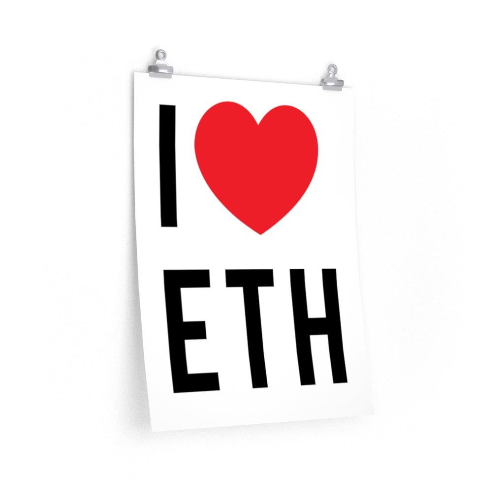 I Love ETH poster