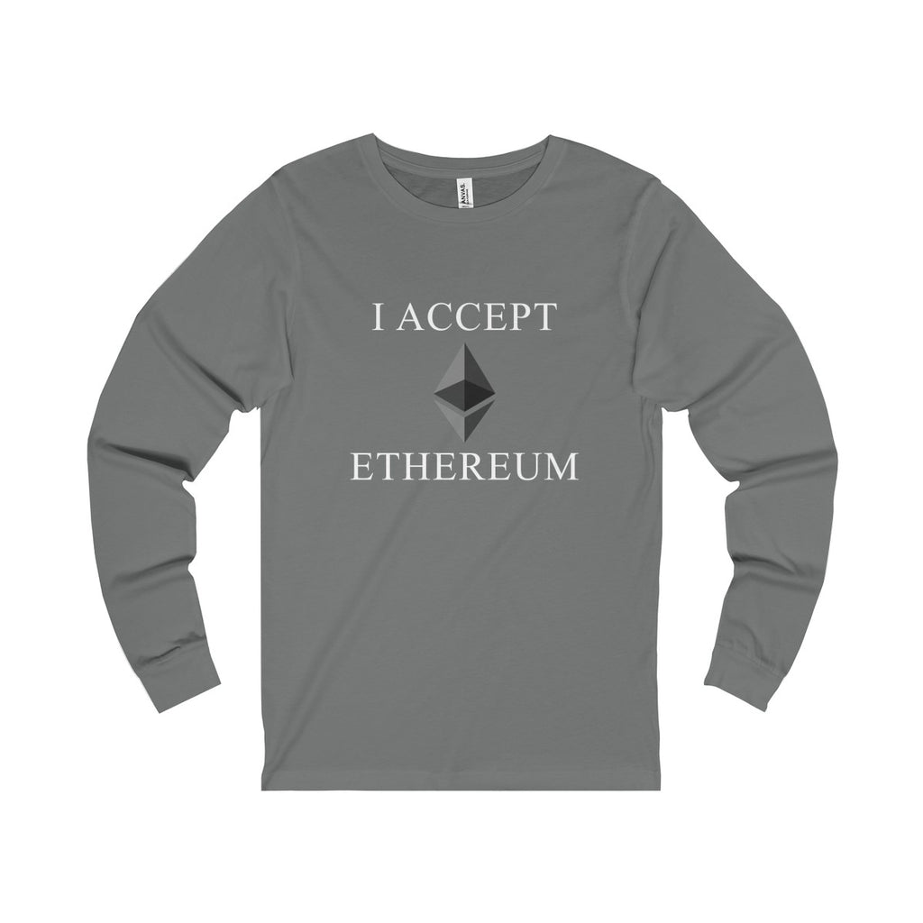 I Accept Ethereum Long Sleeve Tee