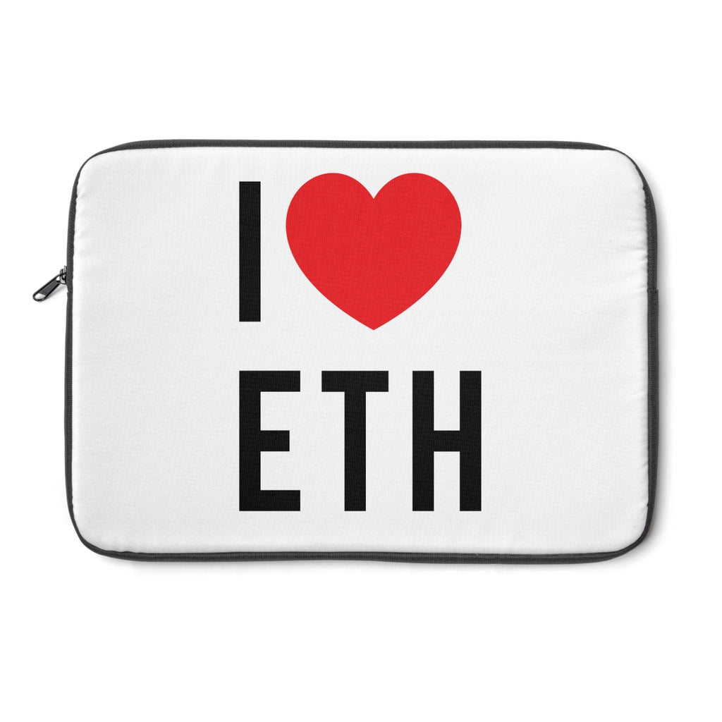 I Love ETH Laptop Sleeve