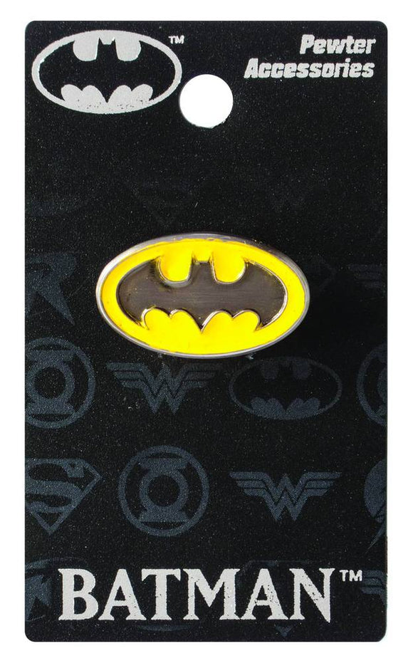 Batman Symbol Colored Pewter Lapel Pin