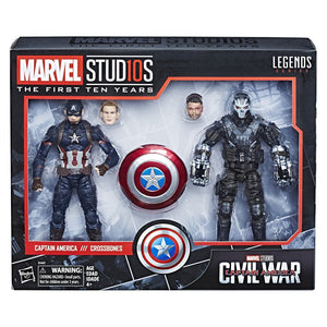 Marvel Legends Cinematic Universe 10th Anniversary Captain America and Crossbones 6-Inch Action Figure 2-Pack (Pre-order Coming in August 2018)