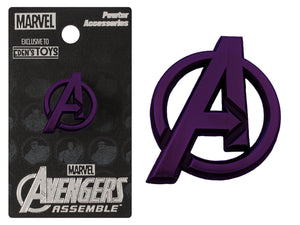 "Avengers Logo Lapel Pin: LIMITED EDITION EDEN'S TOYS EXCLUSIVE ""MAD TITAN PURPLE"" (Coming in September 2018)"