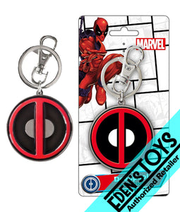 Deadpool Logo Pewter Key Ring