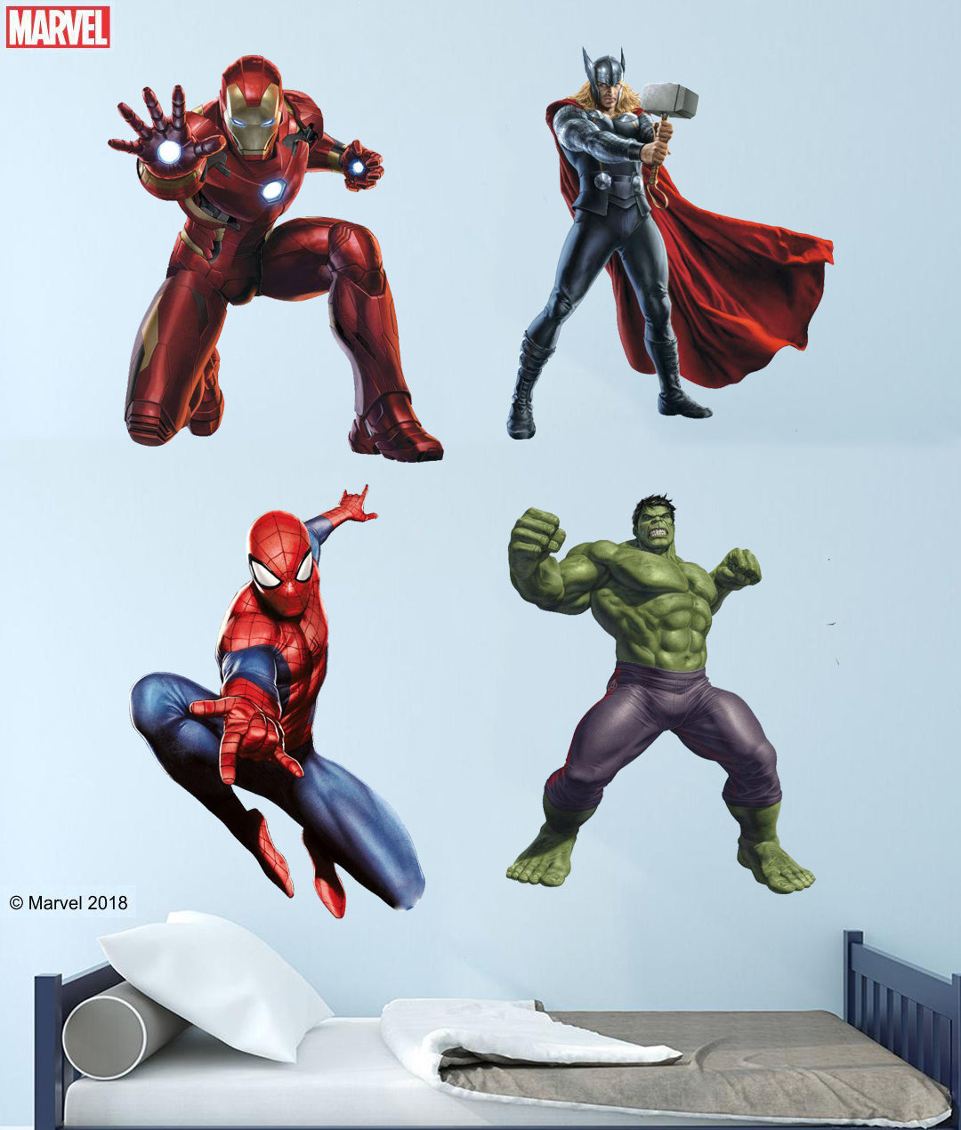 Augmented Reality Marvel 3D Wall Decals ...