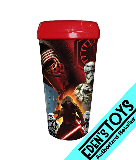Star Wars: Episode VII - The Force Awakens Kylo Ren with Stormtroopers 16 oz. Plastic Travel Mug