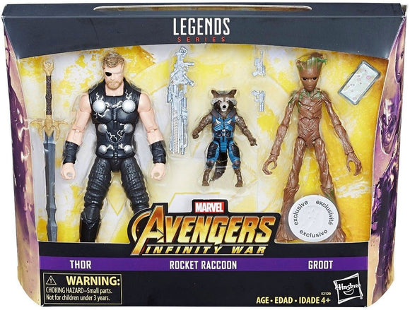 Marvel Avengers: Infinity War Thor, Groot & Rocket Exclusive Action Figure 3-Pack