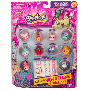Shopkins-Season 9 Wild Style Collectible Figures 12 pack