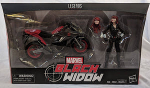 Marvel Avengers Legends Series 6 Black Widow with Motorcycle
