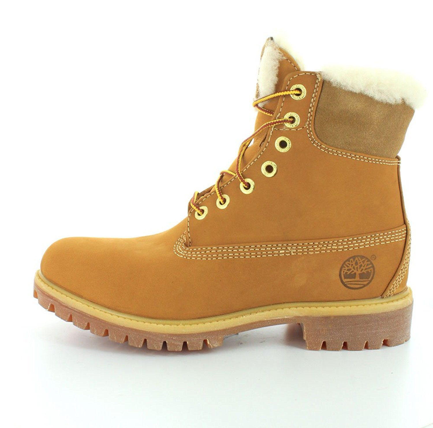 Timberland 6 Inch Fur Lined Men Round Toe Leather Winter Boot