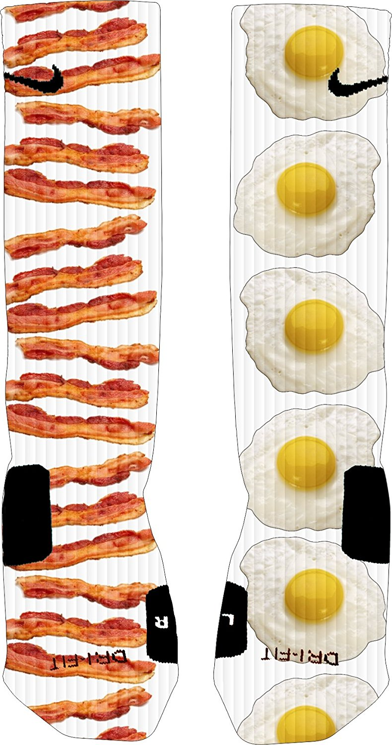 Alpha Bacon and Eggs Nike Elite Socks
