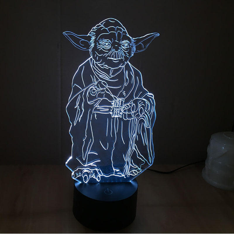 Star Wars Yoda Master 3D LED Light