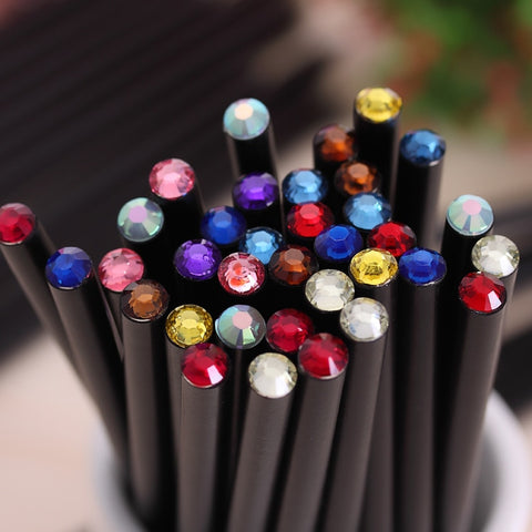 (12Pcs/Set) Diamond Color Pencil Hb - Gold Gadget Box