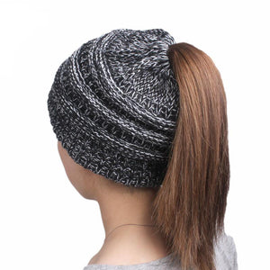 Messy Bun Beanie - Gold Gadget Box