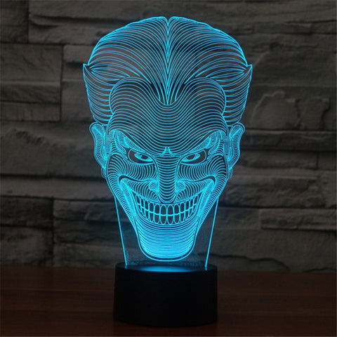 3D Joker LED lamp