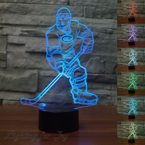 Ice Hockey 3D Led Lamp