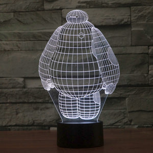 Baymax 3D led light