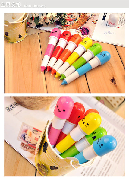 (6Pcs/set) Pill Ballpoint Pen - Gold Gadget Box