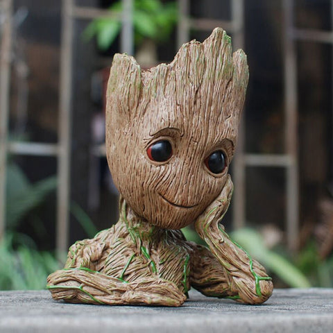 Guardians of the Galaxy Groot model Creative Pen Holder - Gold Gadget Box