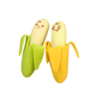 2 Pcs Cute Banana Eraser - Gold Gadget Box