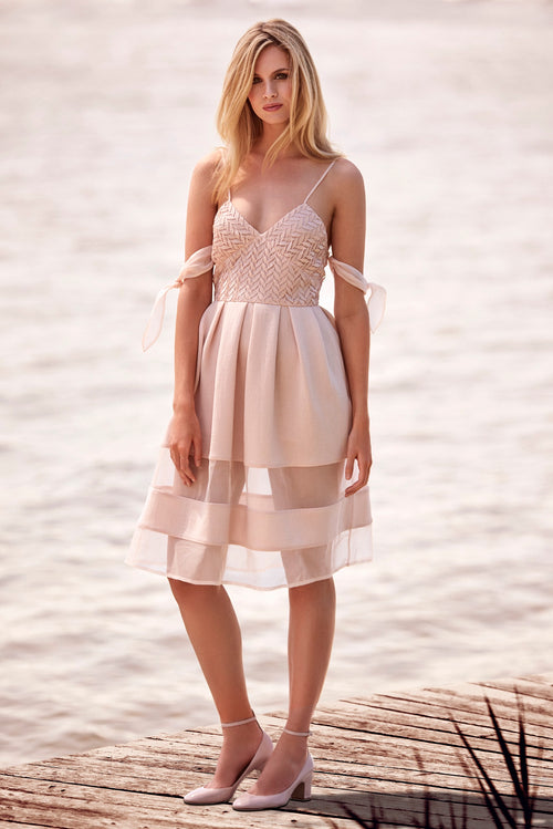 Cloud dress in blush
