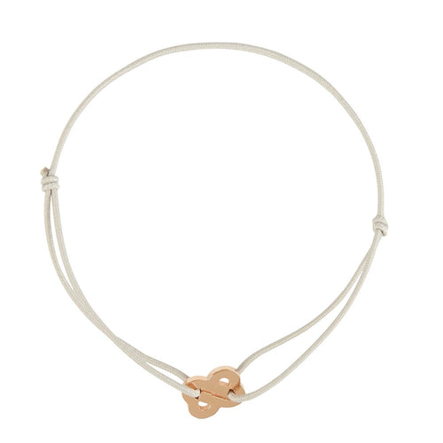 Friendship Bracelet in sterling silver 18 kt pink gold