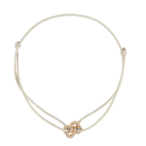 Friendship Bracelet in 18 Kt pink gold with diamonds