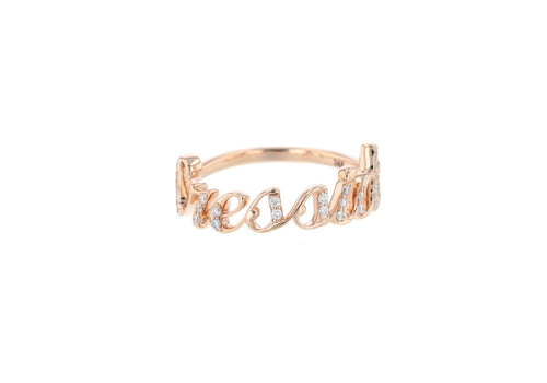 CUSTOMIZED PINKGOLD RING STASH BOLD FONT