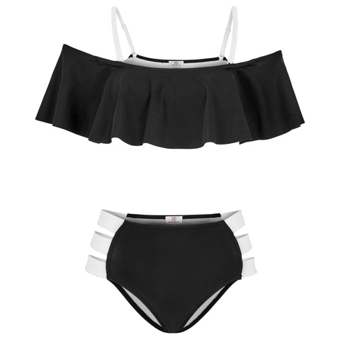 IBIZA SWIMSUIT WOMEN - WHITE/BLACK
