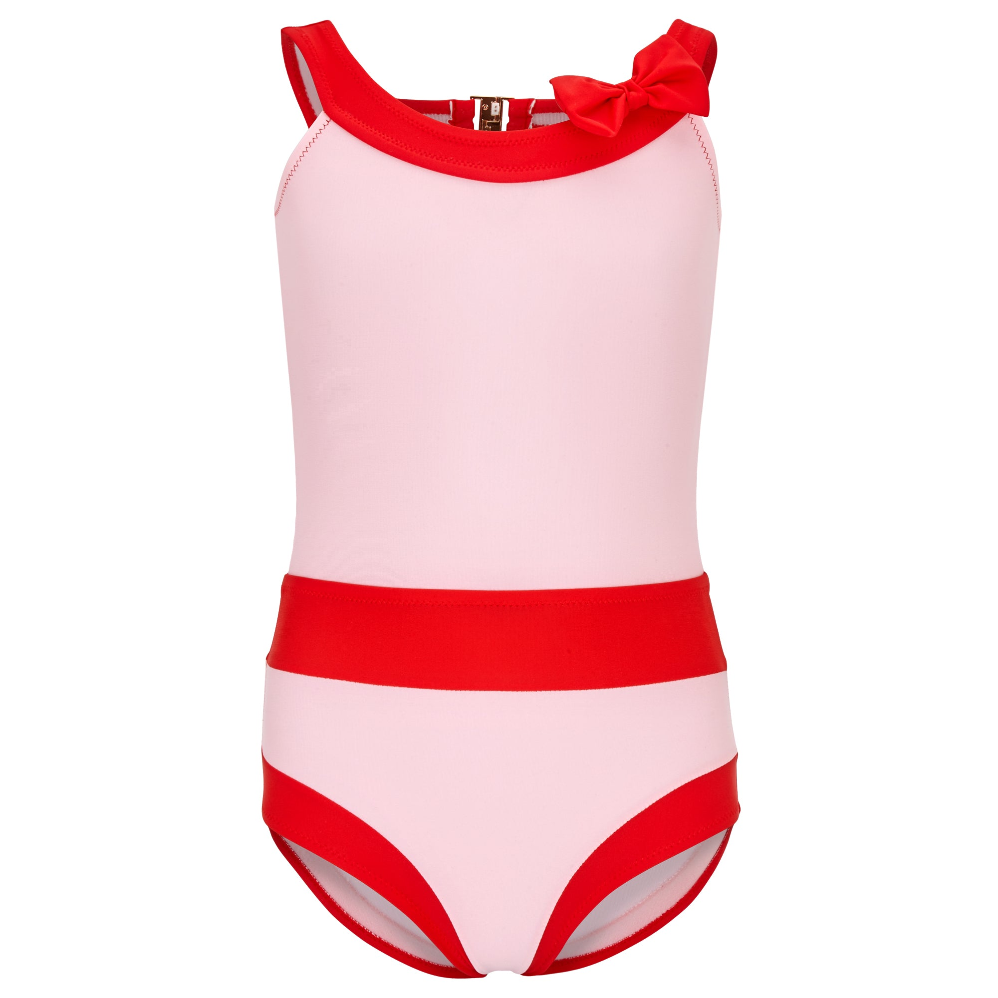 HONOLULU SWIMSUIT GIRLS - BABYPINK/RED