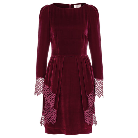 Merry Dress garnet red