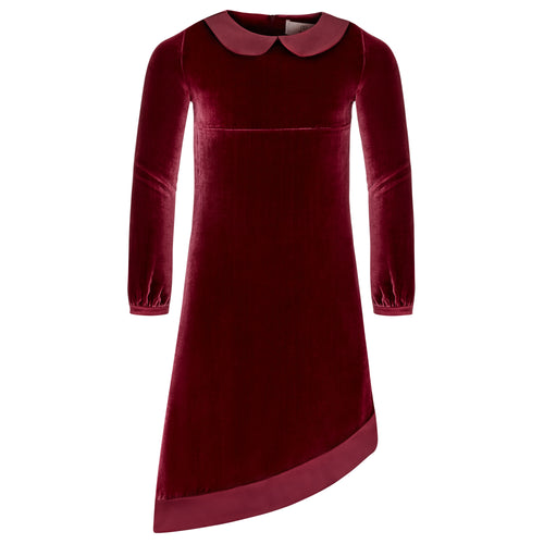 Little Grace dress in garnet red