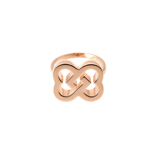 Love Ring in sterling silver 18kt pink gold