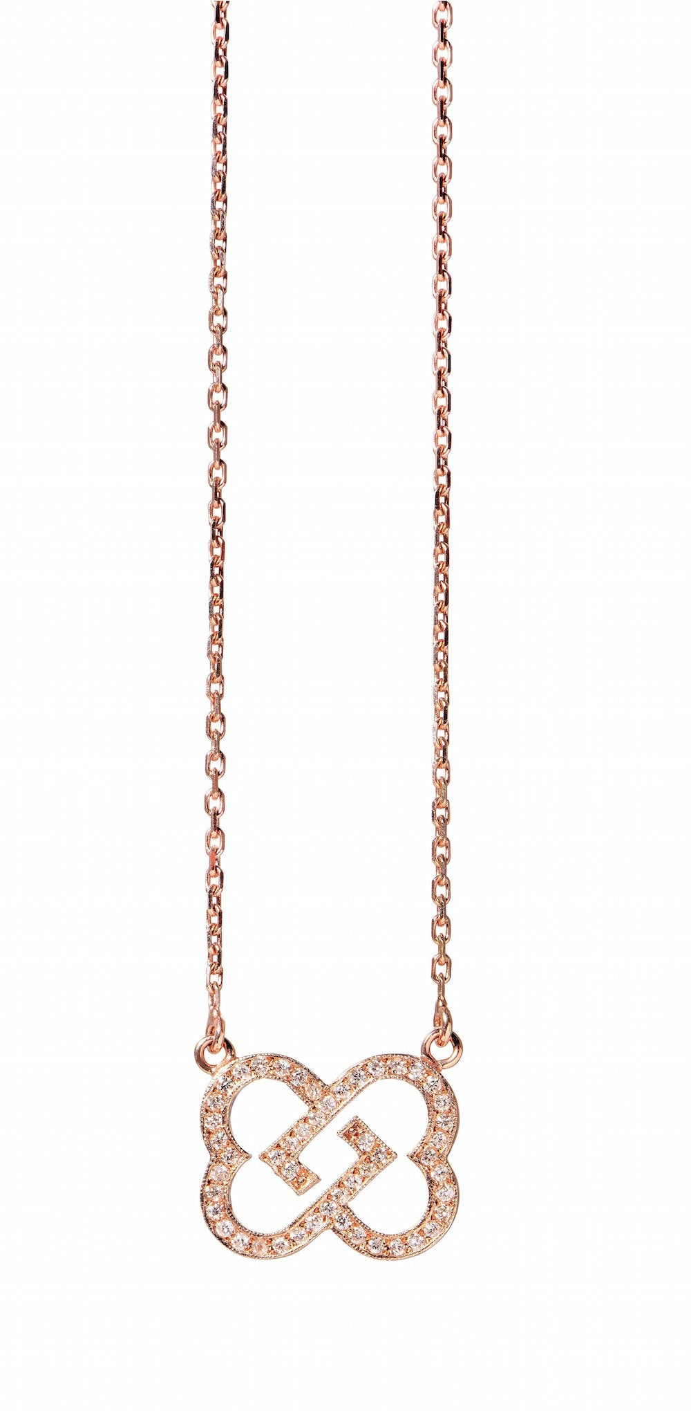 Two Hearts one Beat Collier in pinkgold