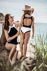 HONOLULU SWIMSUIT GIRLS - WHITE/BLACK