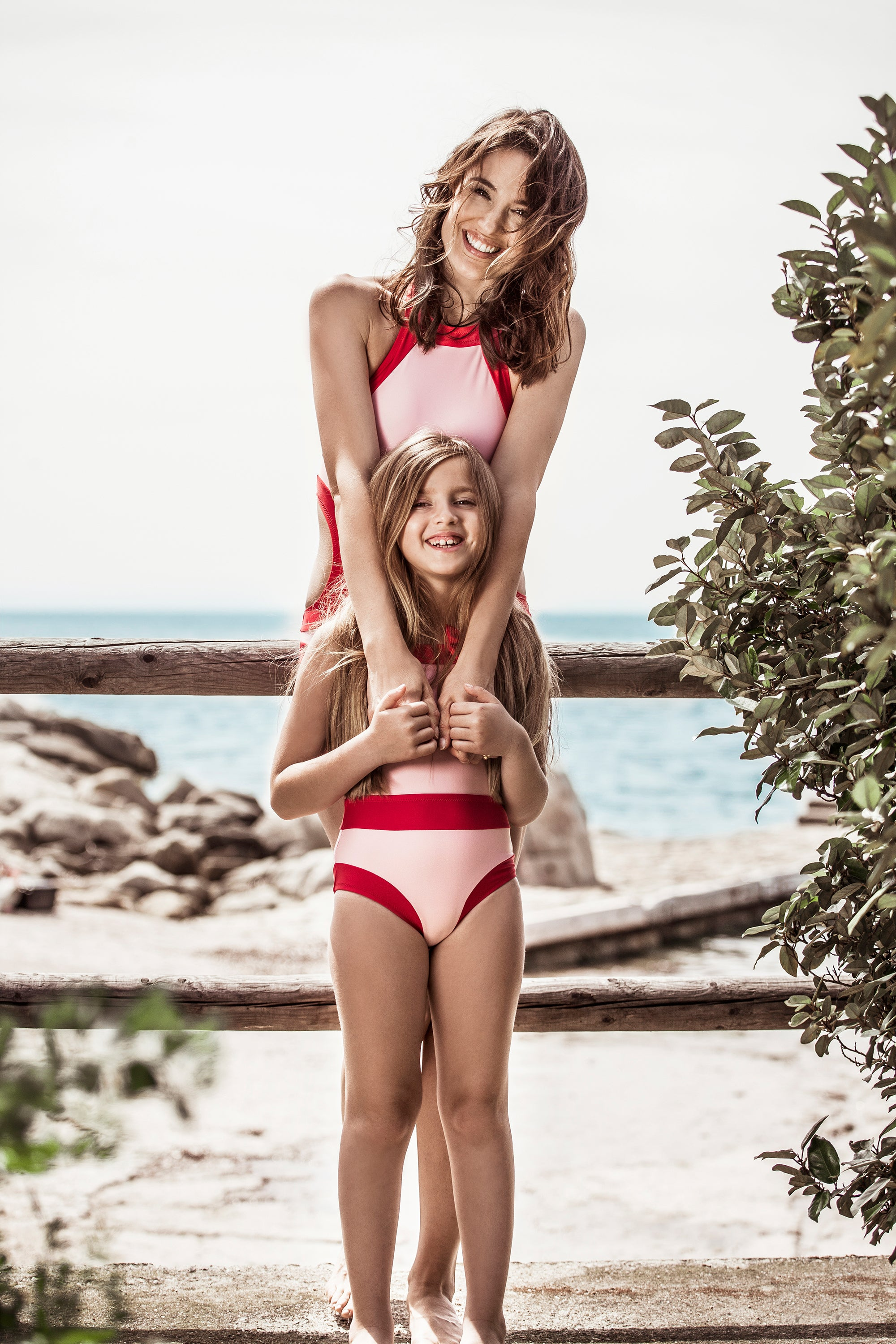 IBIZA SWIMSUIT WOMEN - BABY PINK/ RED