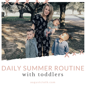 Daily Summer Routine with Toddlers