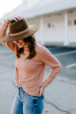 salmon_linen_long_sleeve_top