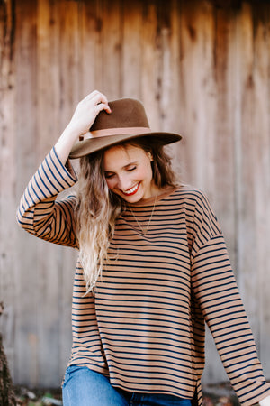 camel_navy_striped_top