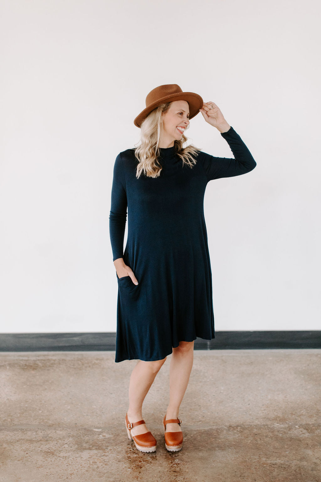 navy_mock_neck_jersey_dress