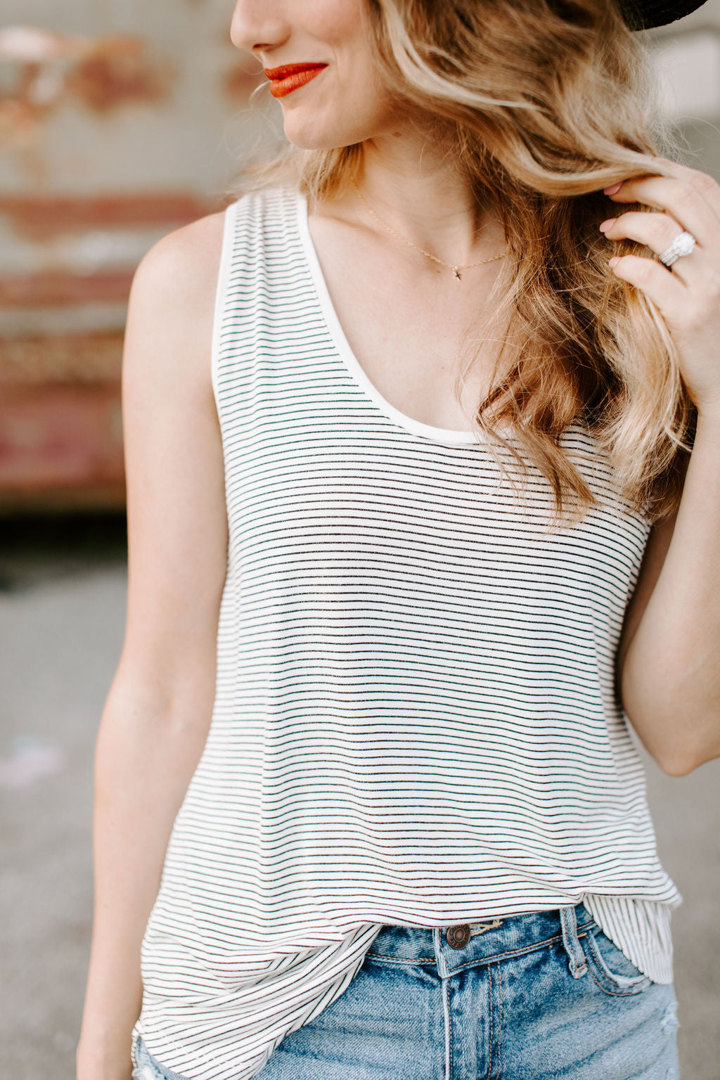 black_white_striped_tank