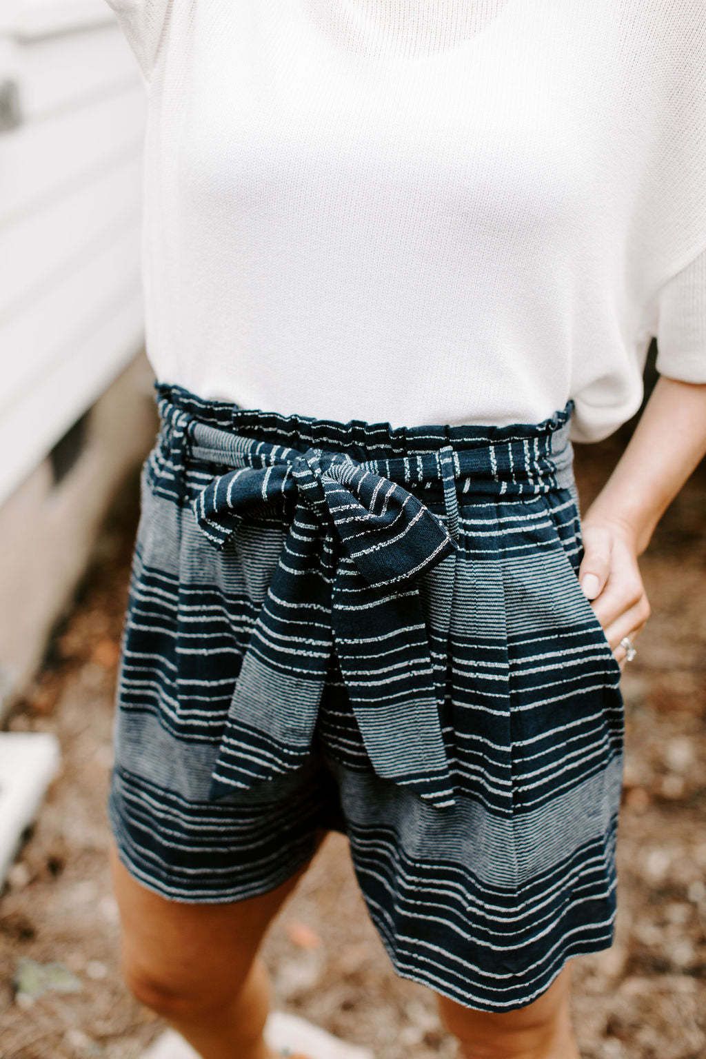 navy_embroidered_striped_paper_bag_shorts