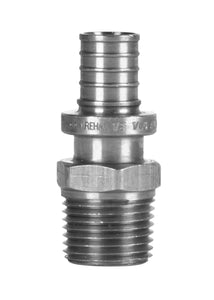 "Lead-Free Male Pipe Adapters - 1"" F2080 x 1"" Male NPT / 3/4"" Female Sweat"