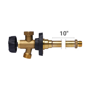 "HydraHydrant Multi-Turn Freezeless Anti-Siphon Sillcock, Hubz Receiver Inlet x 3/4"" MHT 10"" long, Brass"