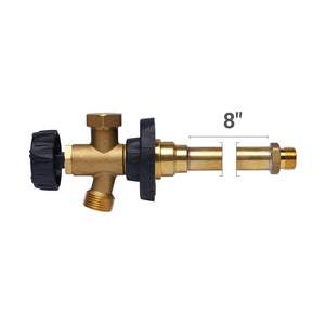 "HydraHydrant 1/4-Turn Freezeless Anti-Siphon Sillcock, Hubz Receiver Inlet x 3/4"" MHT 8"" long, Brass"