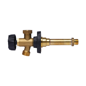 "HydraHydrant Multi-Turn Freezeless Anti-Siphon Sillcock, Hubz Receiver Inlet x 3/4"" MHT 4"" long, Brass"