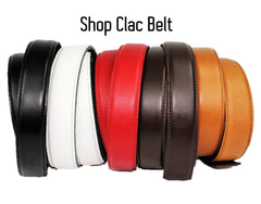 Leather belt magnetic