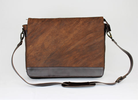 Messenger laptop bag - Bison Leather - Clac Belt