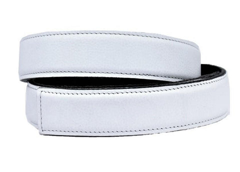 White Leather Belt - Clac Belt