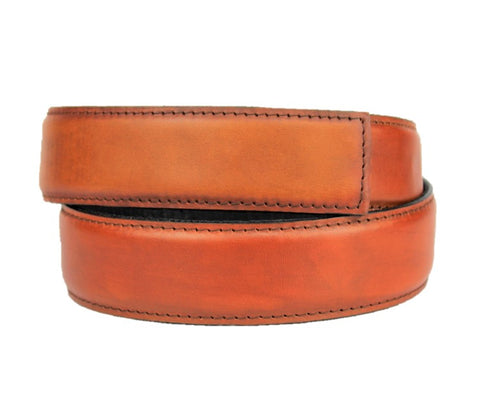 Tan Rustic Leather Belt - Clac Belt
