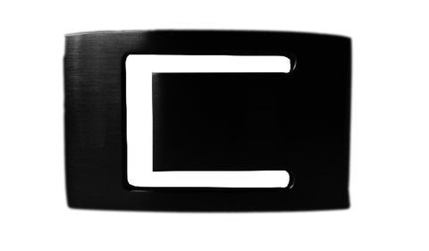 Jobs Black Metallic Buckle - Clac Belt